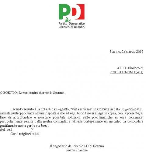 CIRCOLO PD AL SINDACO.JPG