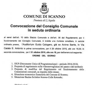 CONVOCAZIONe CONSIGLIO 27-10-2015