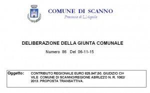 Contributo 825 mila euro