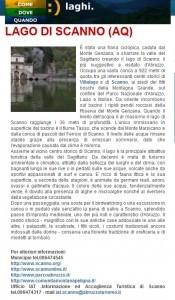 Lago scanno IAT