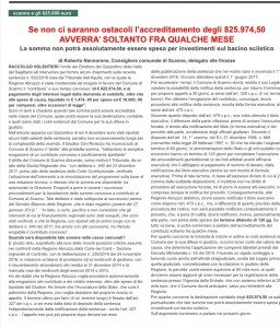 Gazzettino 825 mila euro