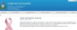 Scanno, dal sito del comune di Scanno l'avviso di visite senologiche gratuite il prossimo 28 febbraio. Una iniziativa di prevenzione veramente importante!